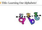 Webquest: Learning our alphabet | Recurso educativo 33885