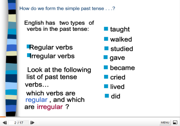 Simple past tense | Recurso educativo 37854
