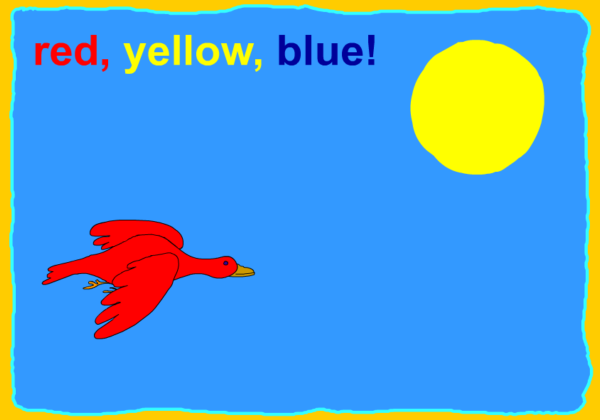 Red, blue and yellow | Recurso educativo 38251