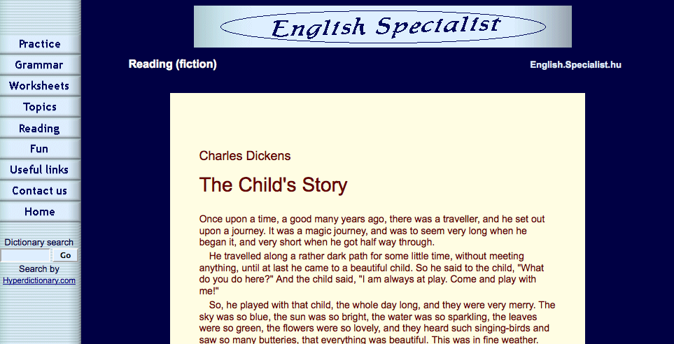 The Child's story | Recurso educativo 40660