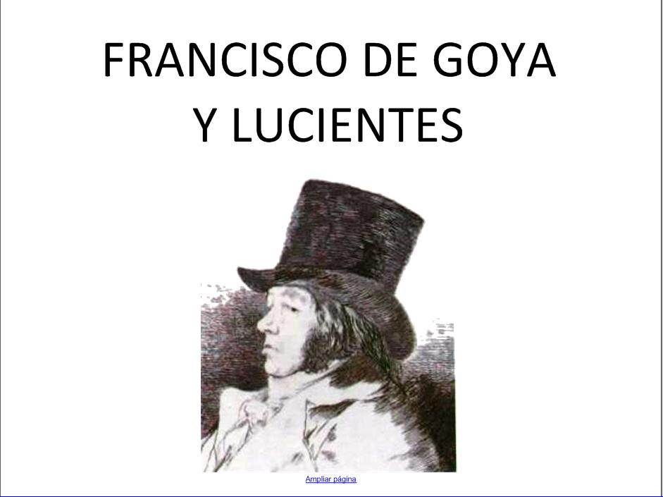 Francisco de Goya | Recurso educativo 49288
