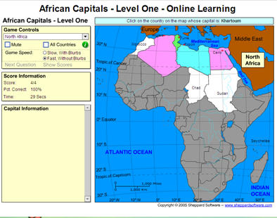 Game: Learn African capitals | Recurso educativo 49583