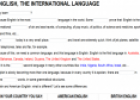 English, the international language | Recurso educativo 10028
