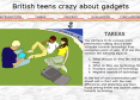 Webquest: British teens crazy about gadgets | Recurso educativo 12637