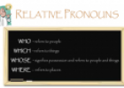 Relative Pronouns | Recurso educativo 20996