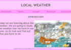 Webquest: Local weather | Recurso educativo 9760