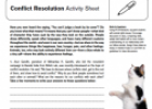 Conflict resolution: Activity sheet | Recurso educativo 63380