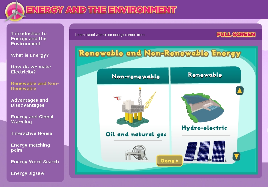 Renewable and non-renewable energy sources | Recurso educativo 89260