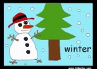 Seasons Flashcards. English Flashcards. KIDSCLAN.COM | Recurso educativo 111861