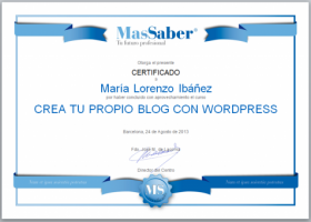 Curso de Crea tu propio Blog con WordPress | MasSaber | Recurso educativo 114126