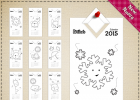 Calendario para colorear 2015 | Recurso educativo 727554